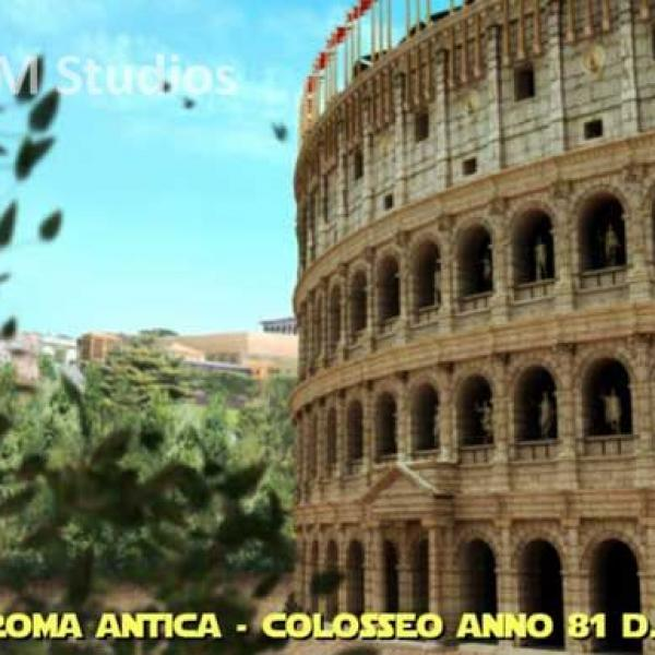 Ancient Rome in 3D - Colosseum and Navona Square